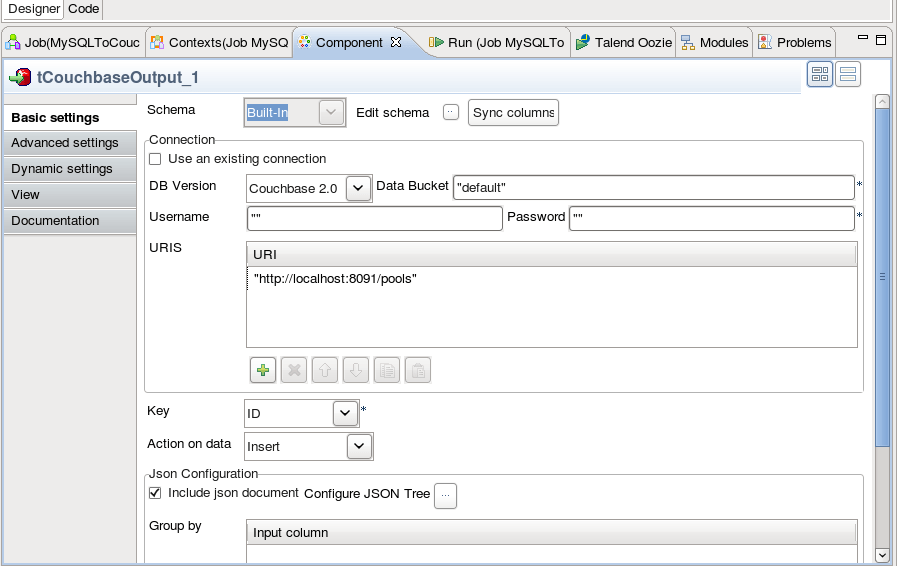 From MySQL to Couchbase using Talend ETL | The Couchbase Blog