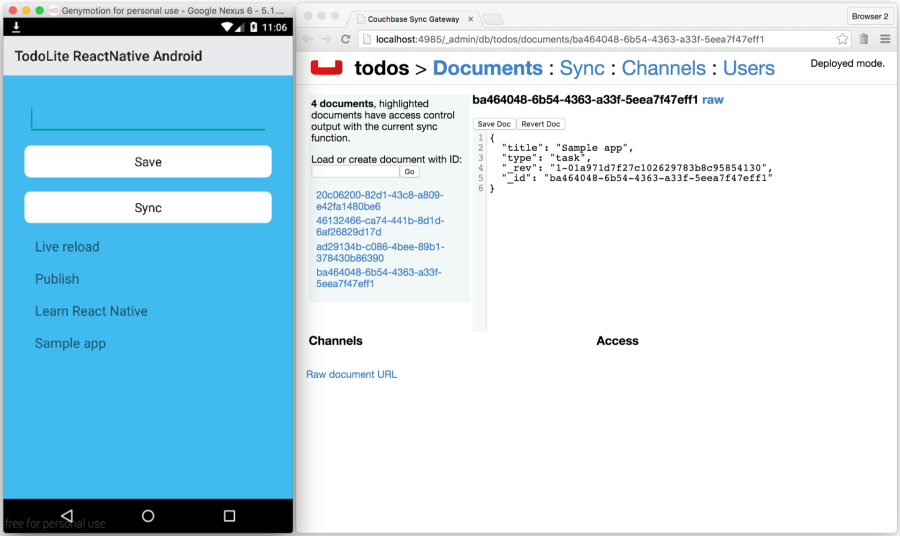 React Native Android and Couchbase Lite | The Couchbase Blog