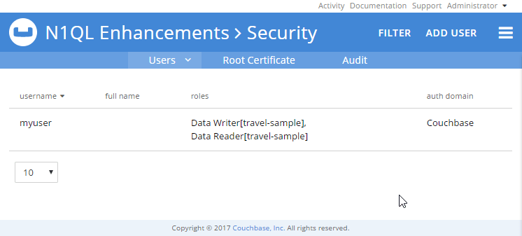 GRANT a role to a user as a N1QL enhancement