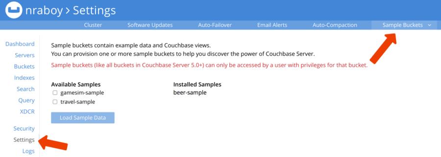 Couchbase Beer Sample Bucket