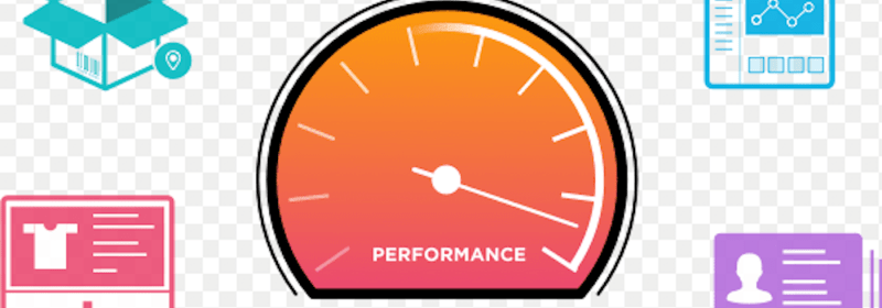 A series icons representing performance statistics on a dashboard