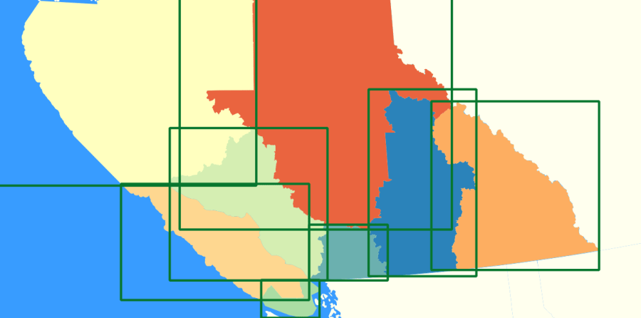 spatial indexes shown in QGIS map