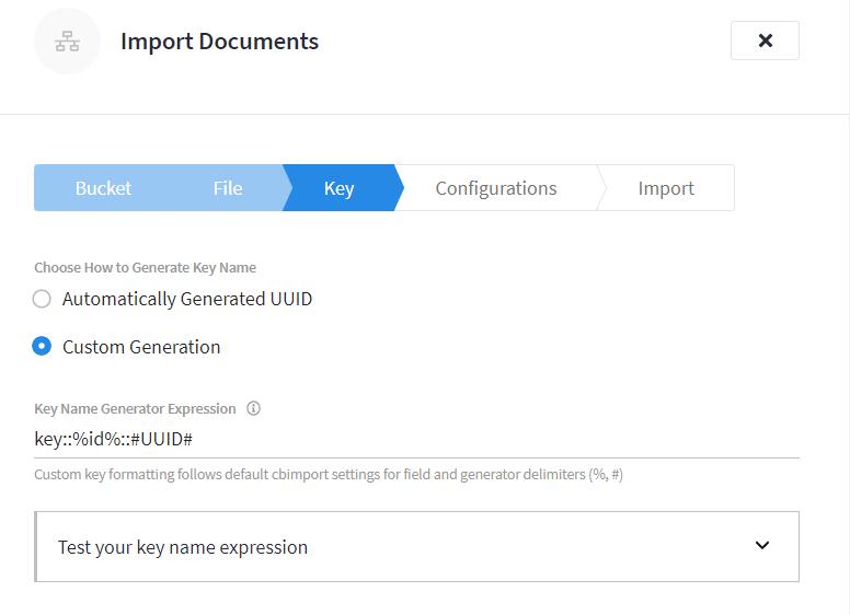 Custom Key On Import
