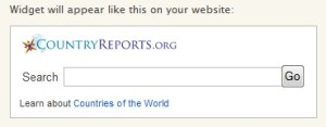 CountryReports Search Widget