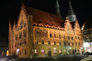 The Ulm Rathaus--picture courtesy of David Korzilius
