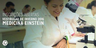 Inscrições abertas para Vestibular de inverno do Einstein