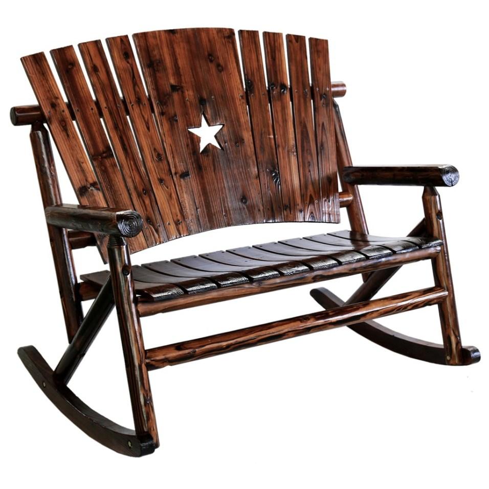 Char-Log Wooden Star Double Rocker