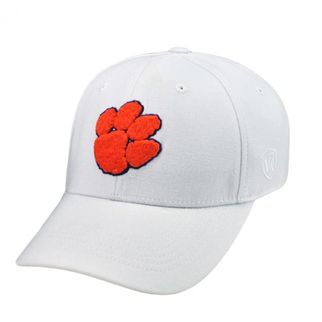 Premium White MemoryFit Hat - Clemson