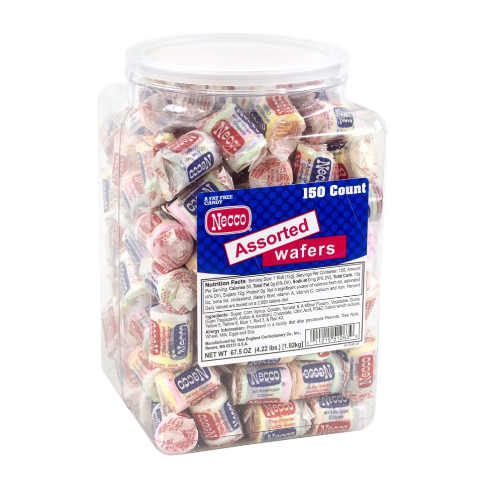 Necco Wafers Tub - 150 Count