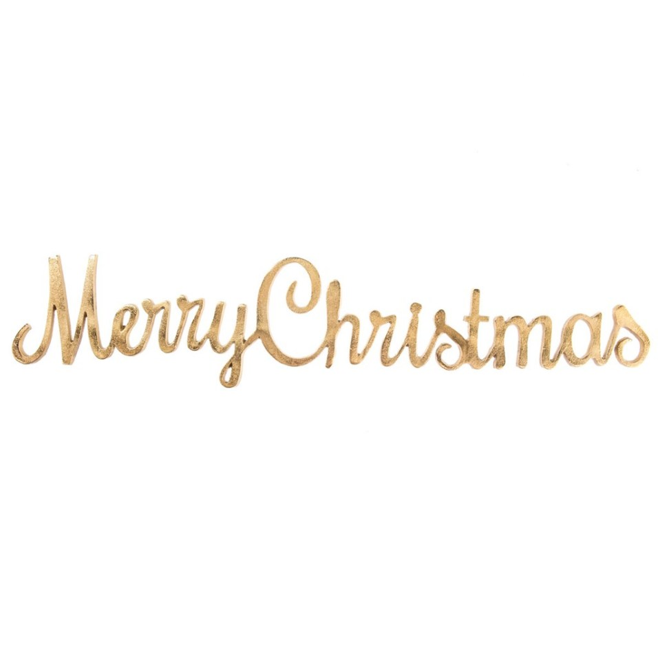 """Merry Christmas"" Script Sign Ornament"