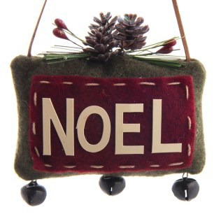 """Noel"" Fabric Ornament"