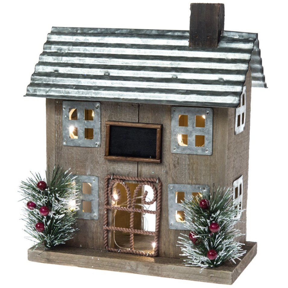 Light-Up Decorative Rustic House