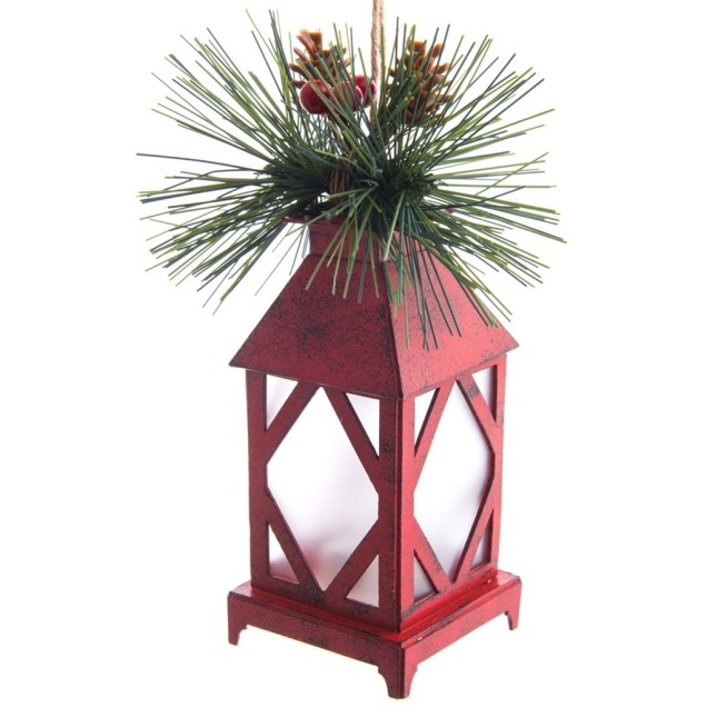 LED Red Lantern Ornament