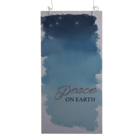 """Peace on Earth"" Sign Ornament"