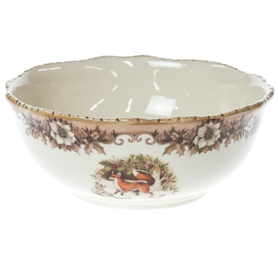 Woodland Fox Stoneware Serving Bowl