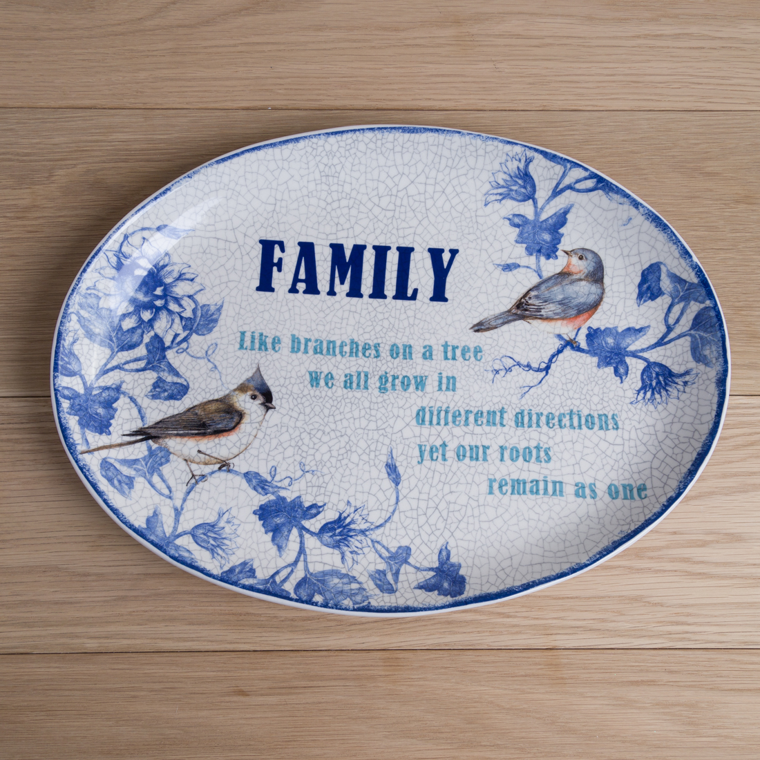 "Stoneware ""Family"" Oval Platter"