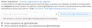 Añadir seguidores Twitter