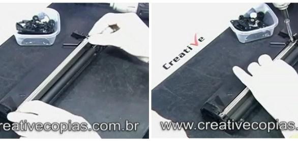 Montagem lâmina dosadora cartucho D-104 Samsung