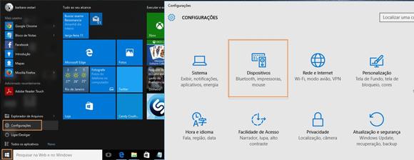 Como configurar impressora Wifi no Windows 10 - Passo 1