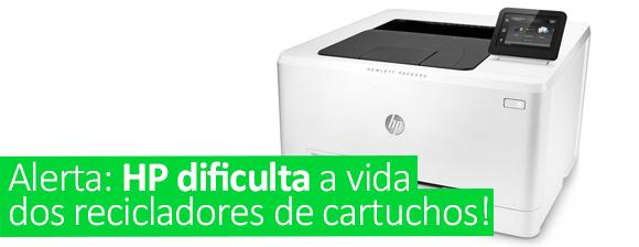 Alerta: HP dificulta a vida dos recicladores de cartuchos!