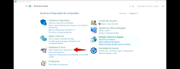 compartilhar impressora na rede com Windows 10 - Exibir Impressoras e Dispositivos