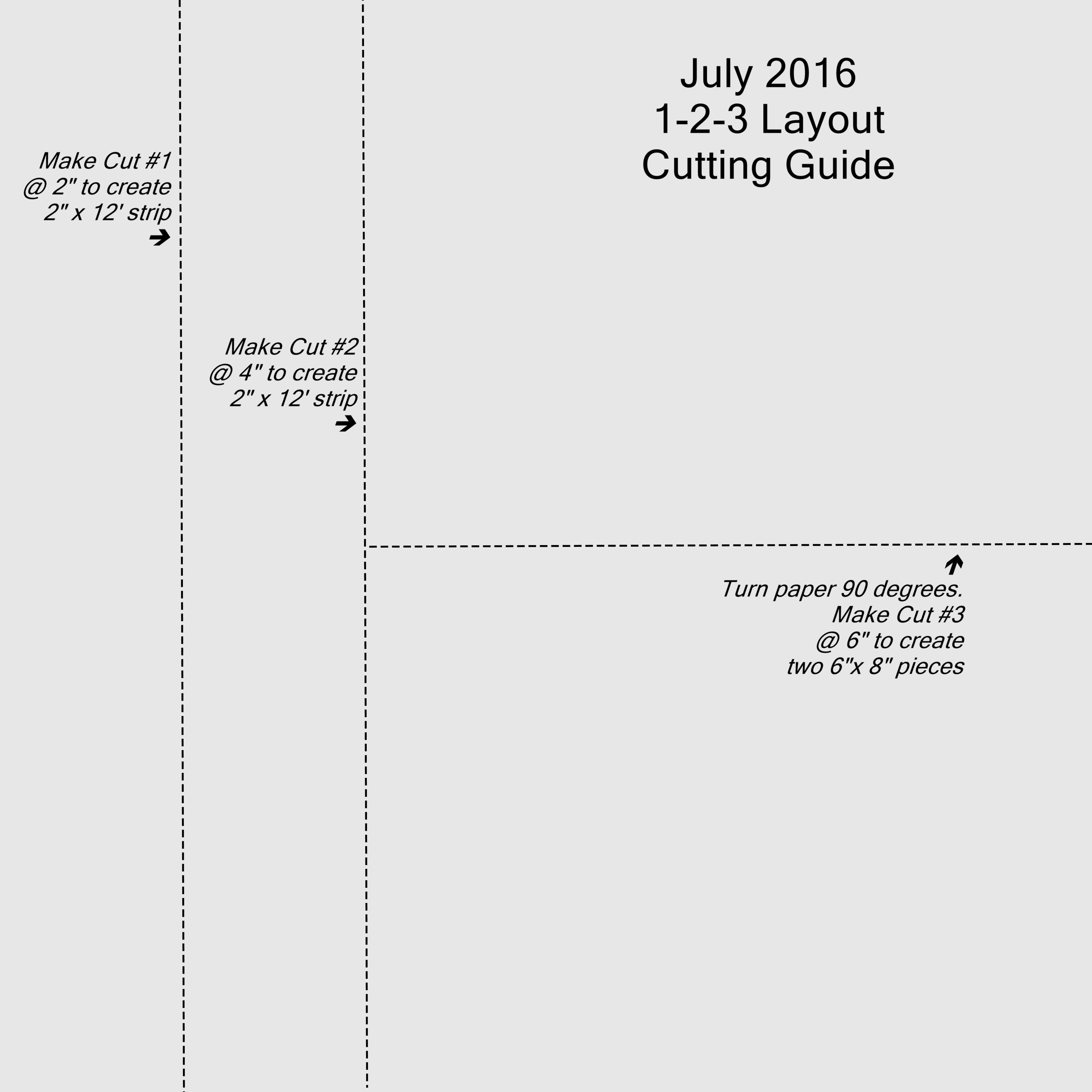 July 1-2-3 Cutting Guide