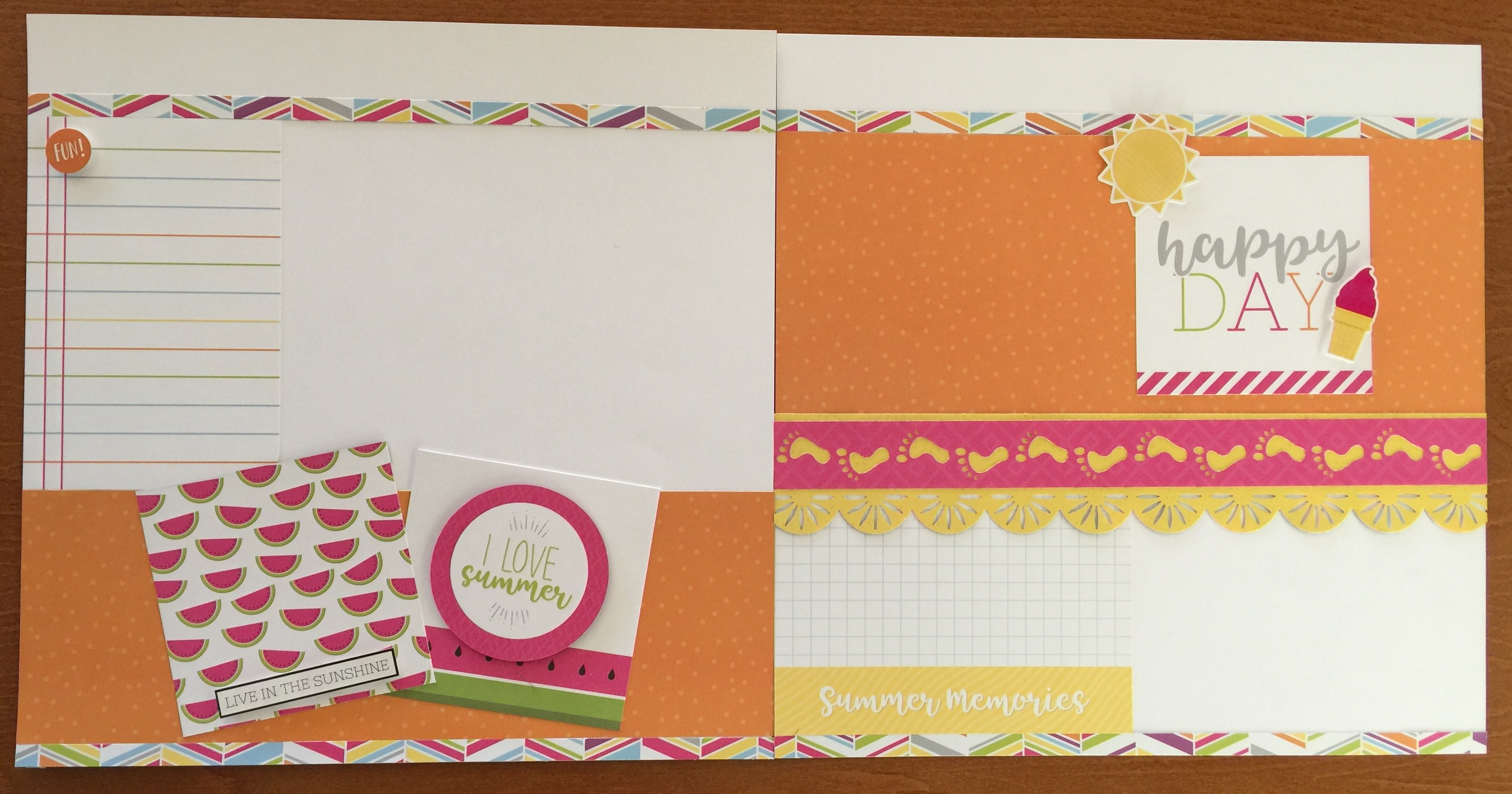 Slice of Summer double page layout