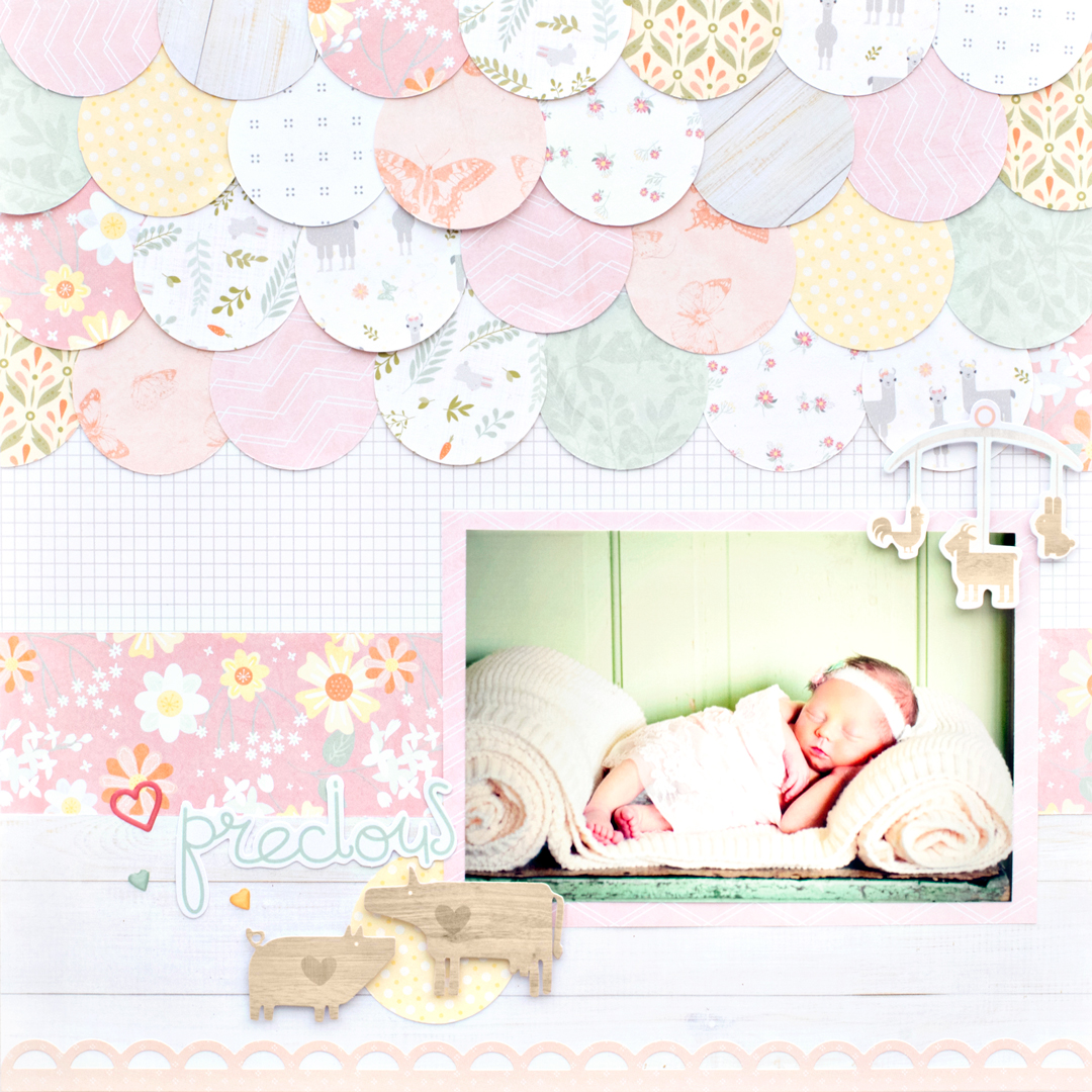Little-Lamb-Girl-Scrapbook-Layout-Creative-Memories