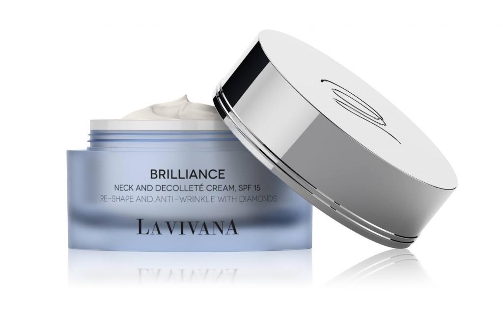 La Vivana Brilliance 亮肌活膚系列的緊緻肩頸精華霜