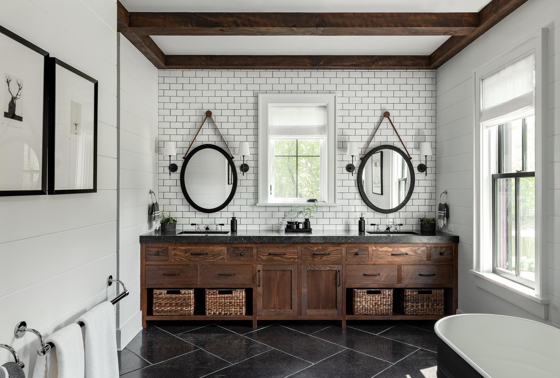 15 Very Different Bathrooms - On the Drawing Board on Bathroom Ideas Modern Farmhouse  id=36967
