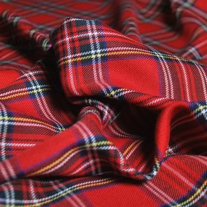Royal Stewart Red Tartan Fabric - cu