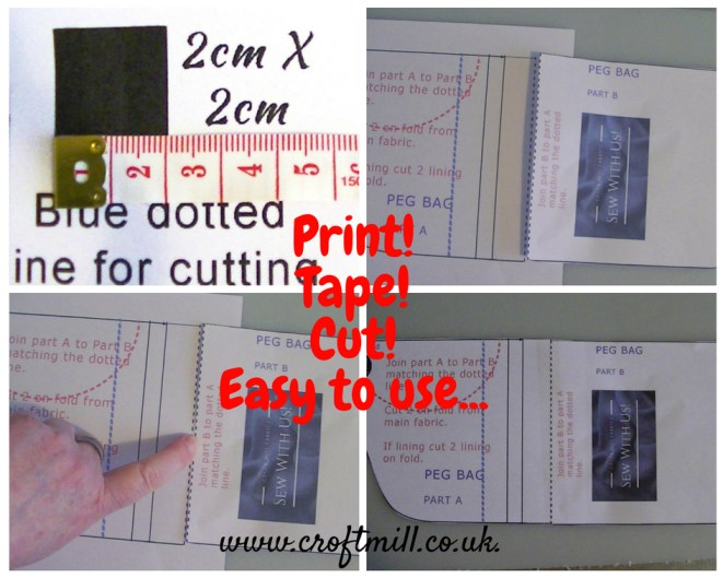 sew your own, croft mill peg bag