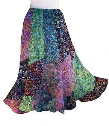 batik fabric skirt