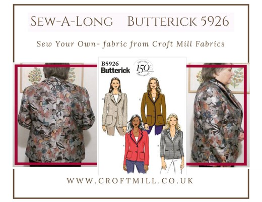 Butterick B5926 sew a long
