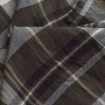 Growing Up - Brown and Cream Check Polycotton Shirting Fabric