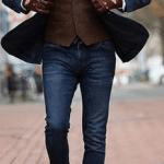 Men's denim suit
