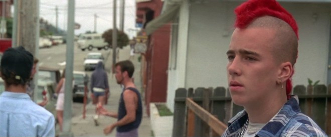 "Un punk rocker nel film ""Ragazzi perduti"" di Joel Schumacher"