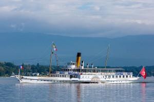 S/S Montreux arrivant hlp d'Ouchy à Genève (bol d'or)