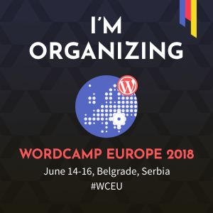 Anastasios is helping organise WordCamp Europe 2018