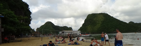 Beach on Halong Bay