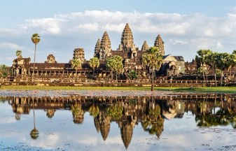 Panorama of famous Cambodia landmark Angkor Wat