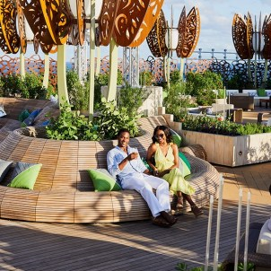 Spend time at the Rooftop Garden during the day