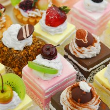 Delicious and colorful dessert selection at the buffet