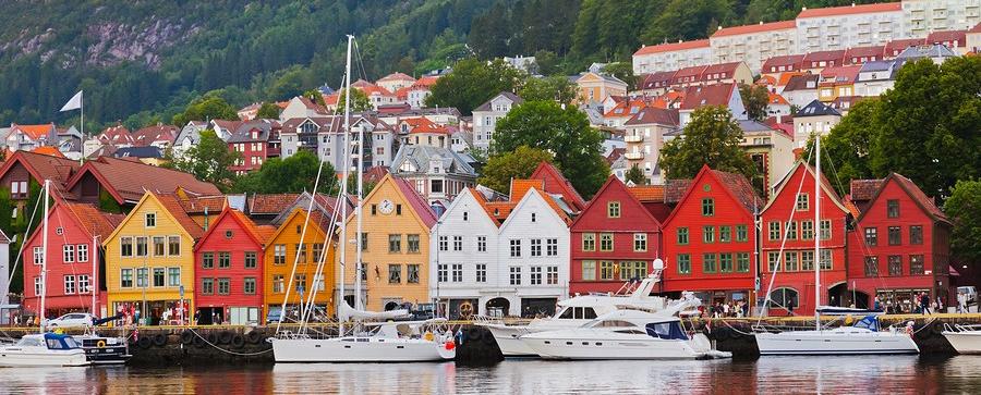 Bryggen Street In Bergen Norway