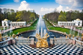 ntain in Peterhof St Petersburg
