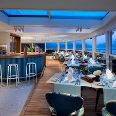 Enjoy the views from an onboard alfresco eatery