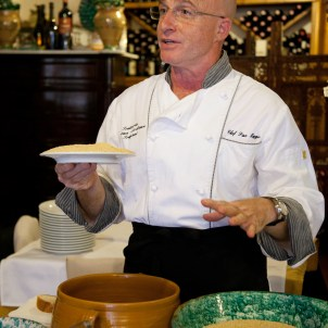 Cooking demonstration in Trapani, Italy