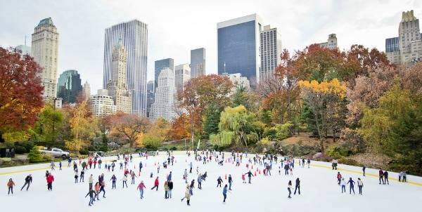 Ice Skaters in New York Central Park