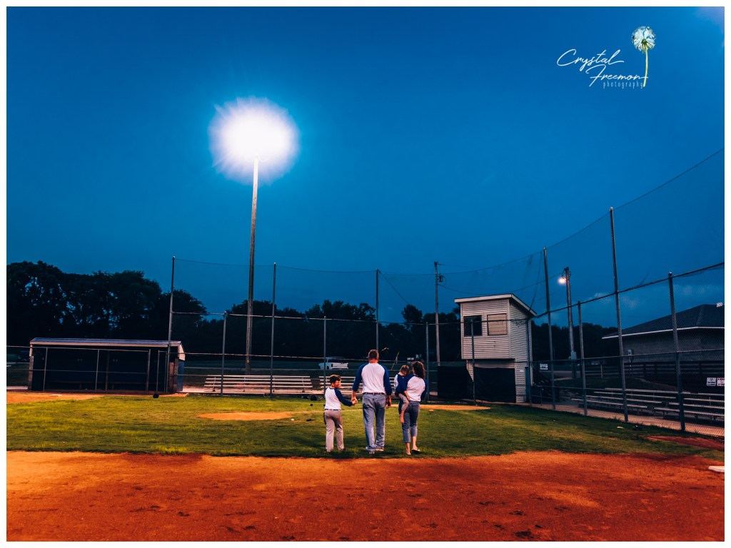 Out of the Park - Baseball Themed Family Portrait Session