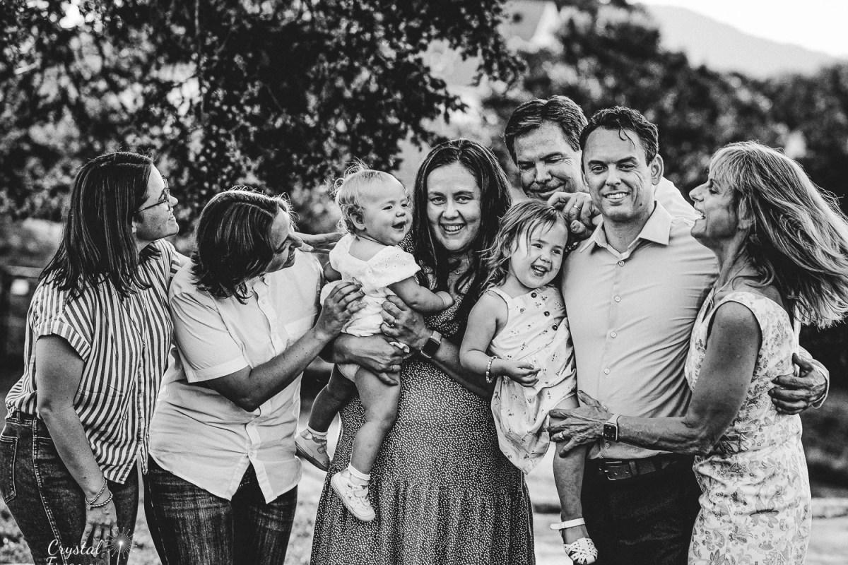 Extended Family Photo at A&E Farm